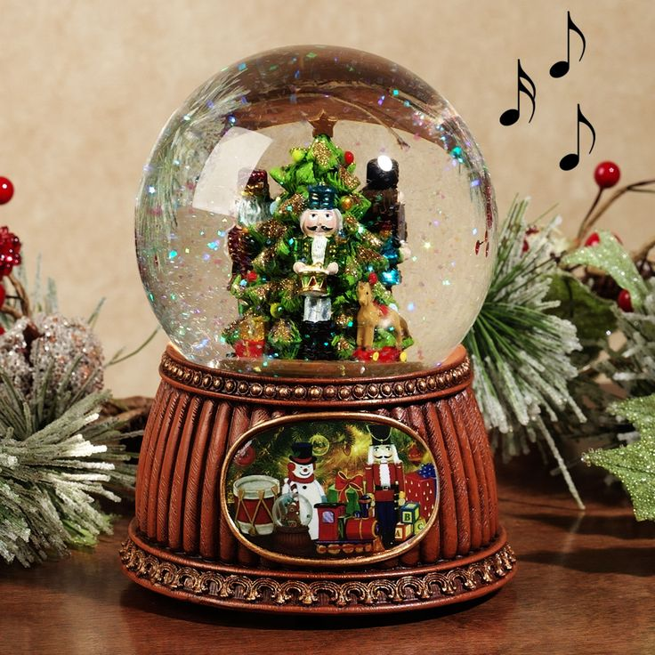 289 Snow Globe Images Pinterest Globes Music Boxes Nutcracker Musical