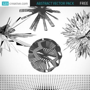 FREE Abstract/Tech vector pack include 5 high detailed futuristic/abstract/3D vector graphic elements that you can use in your modern graphic design, can be downloaded from this link: http://www.123creative.com/digital-abstract-vectors/833-free-abstract-vector-pack.html