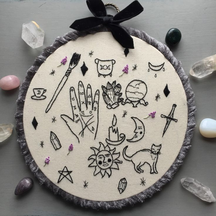 earleybirdstuff wiccapagan witchcraft icons embroidery halloween embroideryhand embroideryembroidery patternswitchcraftwicca - Halloween Hand Embroidery Patterns