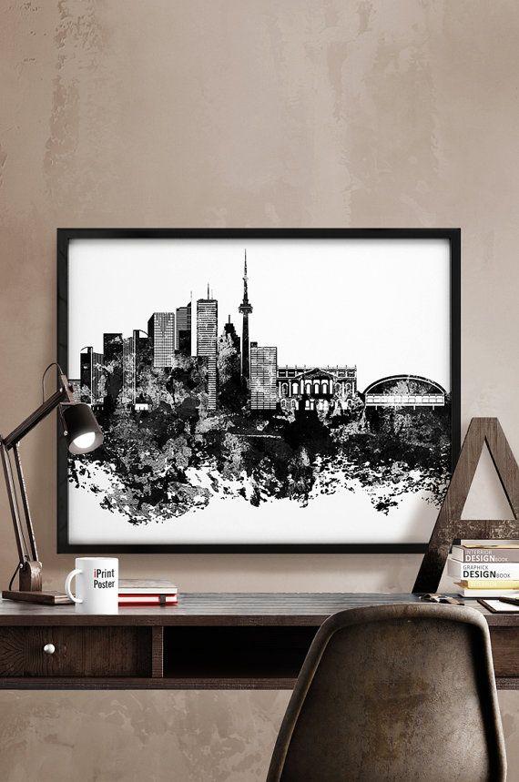 Toronto skyline Toronto abstract Toronto cityscape by iPrintPoster