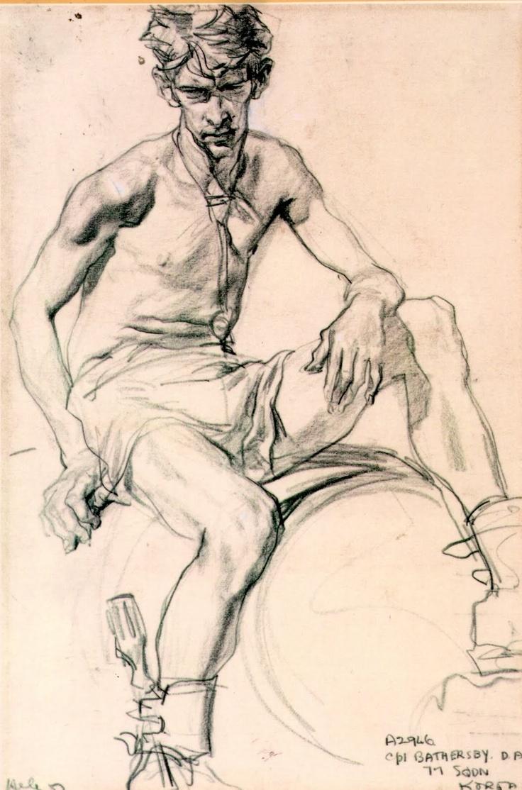 Ivor Hele drawing