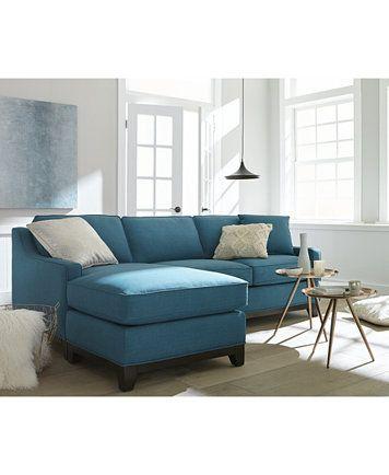 Keegan fabric 2 piece sectional sofa macyscom for Keegan 2 piece sectional sofa