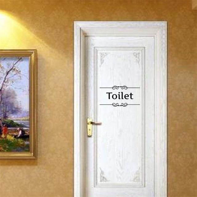 Sinal de Entrada de porta do banheiro adesivos diy decalques de parede decoração do banheiro personalizado Para Loja Home Office Cafe Hotel