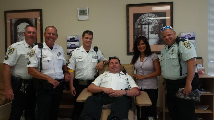SCSO members from our East Region donated blood this week in honor of wounded Brevard County Sheriff's Agent Casey Smith. Casey was shot multiple times while deputies were serving a warrant during a prostitution investigation earlier this month. He was critically wounded, but is said to be making significant signs of improvement. Our thoughts and prayers remain with Casey and his family.