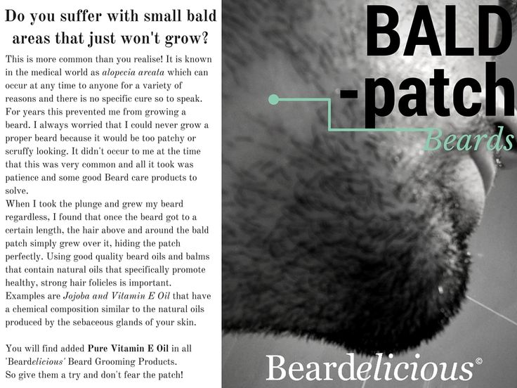 Do you suffer with small bald areas that just won't grow? #info #beardlife #beardcare #beardgrooming #essentialoils