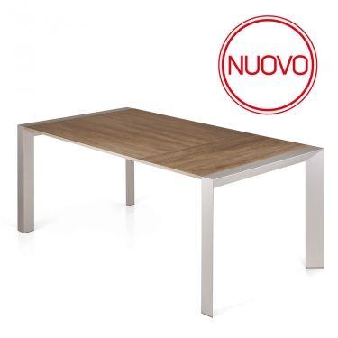 € 639,00 #sconto 40% #tavolo HENRY allungabile a 240 cm, struttura in alluminio e top in legno tranchè. In #offerta #prezzo su #chairsoutlet