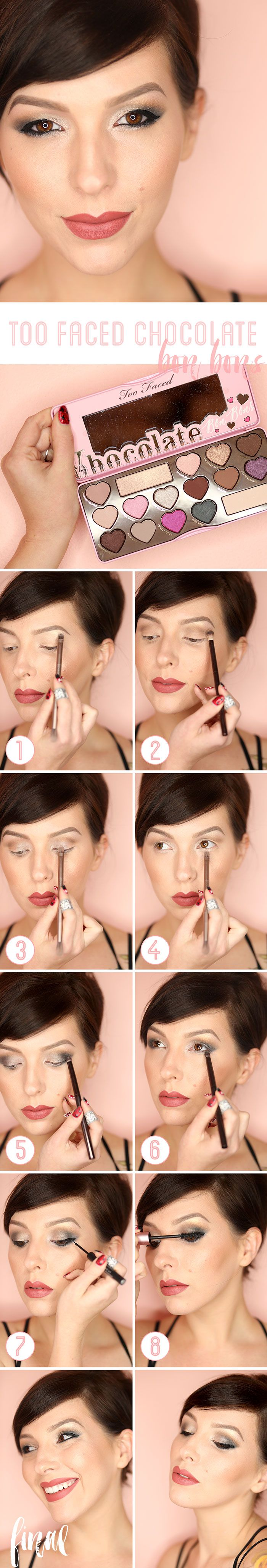 Too Faced Chocolate Bon Bons Eyeshadow Palette Tutorial - Keiko Lynn