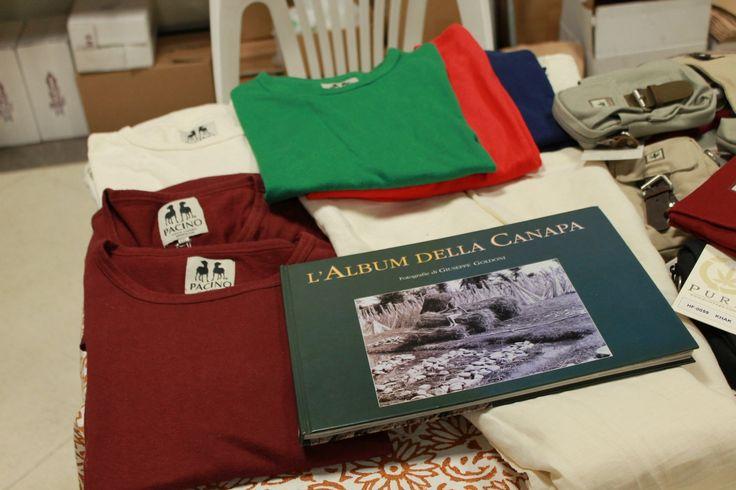 Abbigliamento naturale Pacino in fibra di #canapa - Antica Fiera della Canapa #Gambettola 22 Novembre 2014