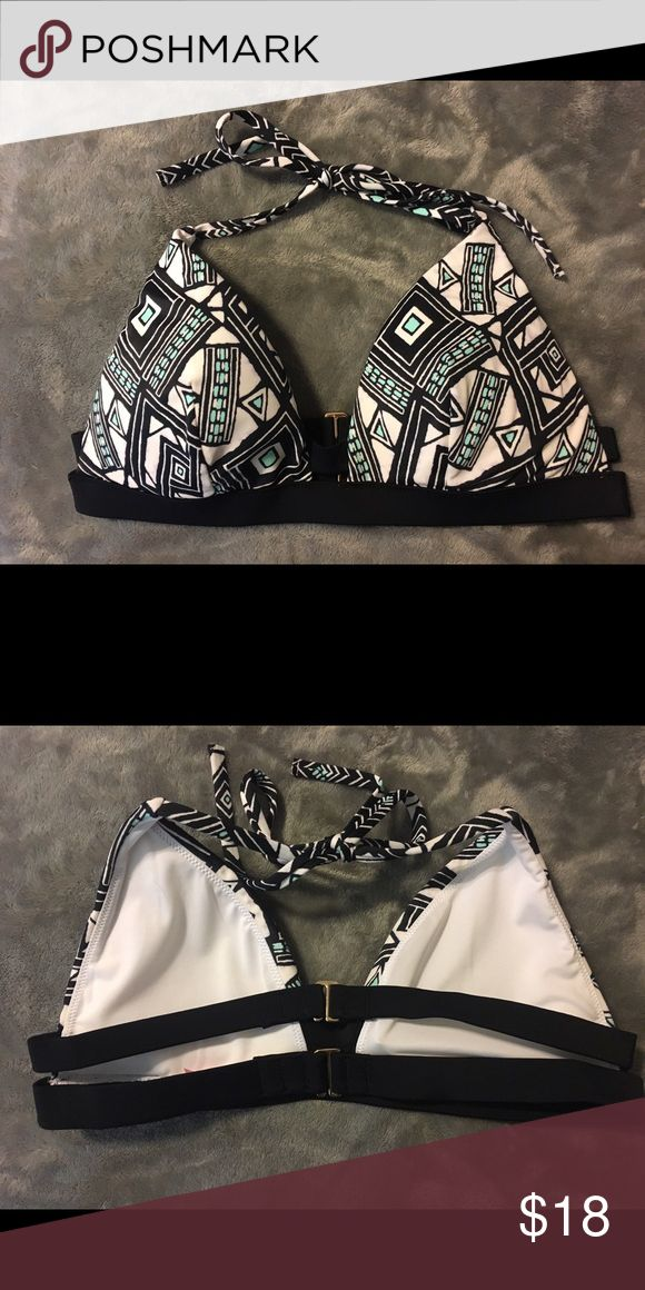 Fun Aztec triangle bikini top Never worn, new without tags. Super cute double strap in the back, and very supportive Victoria's Secret Swim Bikinis