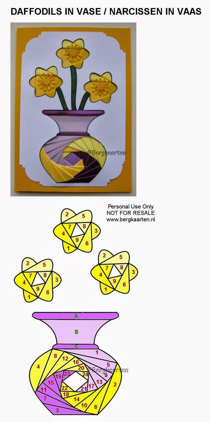 Iris Fold Narcissus in vase