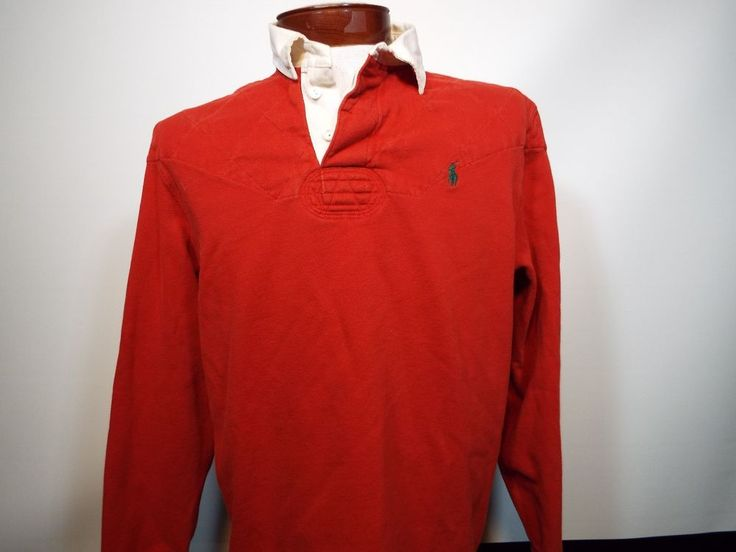 VTG Polo Ralph Lauren Men's Quilted Shoulders RUGBY Elbows L/S Shirt Size L | Clothing, Shoes & Accessories, Men's Clothing, Casual Shirts | eBay!