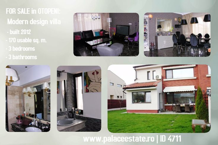 Cozy #villa  with unique design and yard built in 2012 now for #sale in #Otopeni. Located on a quiet street with villas and newly built houses, this villa is the ideal home for your family. The design is exceptional, and the partitioning optimal. www.palaceestate.ro | ID 4711