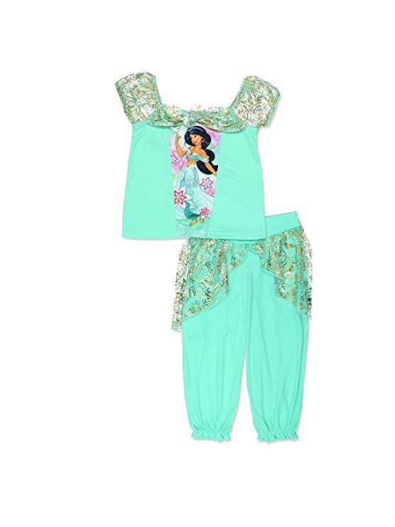 Disney Princess Jasmine Girls Fantasy Pajamas (Little Kid Big Kid ... a0ed97e93