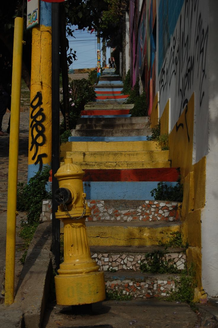 Stairway in Valparaiso; Chile Eureka Travel #SouthAmerica