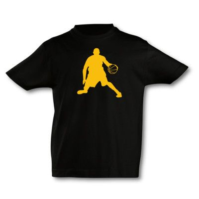 Kinder T-Shirt Basketball Spieler. T-Shirt Basketball Spieler, kurze Arme, Flexdruck