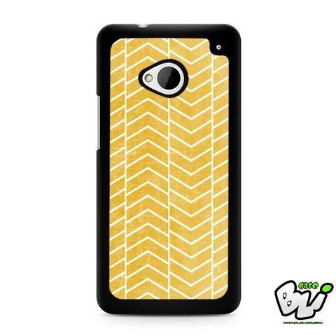 Yellow White Chevron HTC G21,HTC ONE X,HTC ONE S,HTC M7,M8,M8 Mini,M9,M9 Plus,HTC Desire Case