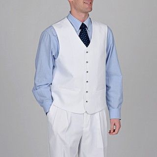 Stacy Adams Men's White 3-piece Suit   Overstock.com Shopping - The Best Deals on Suits