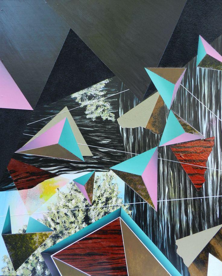 https://www.facebook.com/blakebeckfordart #geometric #art #abstract #painting # #blakebeckford #texture #acrylic