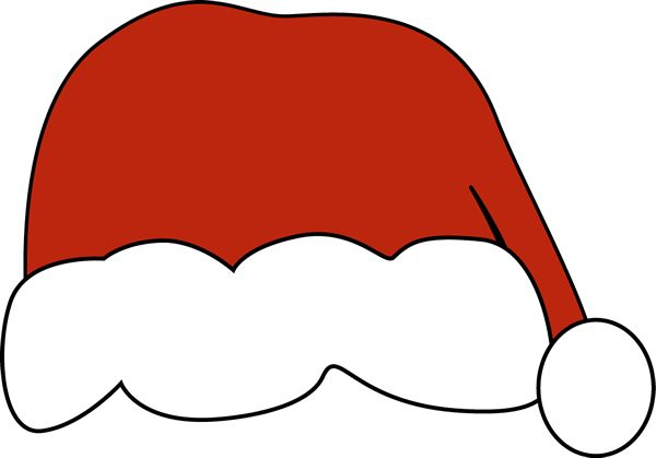 Santa hat - there is also a black and white version available at MyCuteGraphics. :)
