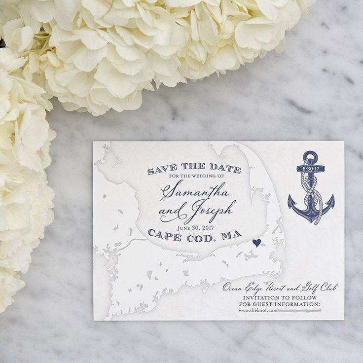 Cape Cod Map Save the Date by Scotti Cline Designs