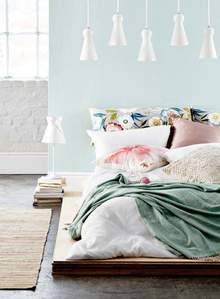 chambre couleurs pastels