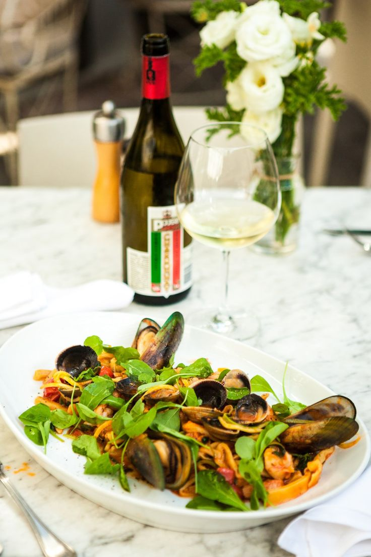Our Chardonnay matches perfectly with these Scialatelli di Mare!