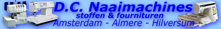 DC Naaimachines, Lockmachine, Borduurmachines van o.a. Bernina, Brother, Elna, Husqvarna, Pfaff en Singer, tevens Stoffen en Fournituren