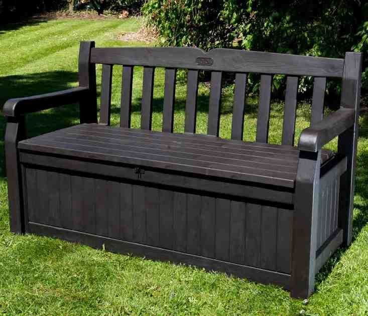 30 best outdoor storage bench images on pinterest for Outdoor furniture benches