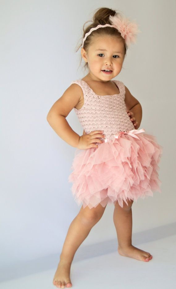 Tutu Dress with stretch crochet bodice and playful by AylinkaShop