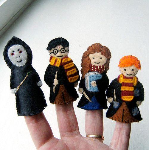 harry potter finger puppets!: Crafty Stuff, Harry Fingers, Gifts Ideas, Potter Fingers, Potter Puppets, Crafts Pools, Harry Potter, Clara Clip, Fingers Puppets