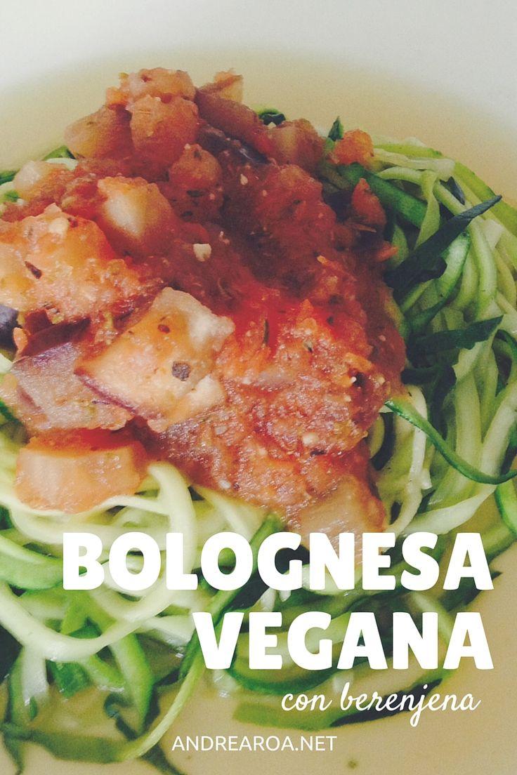 Receta de Salsa Bolognesa Vegana con Berenjena - andrearoa
