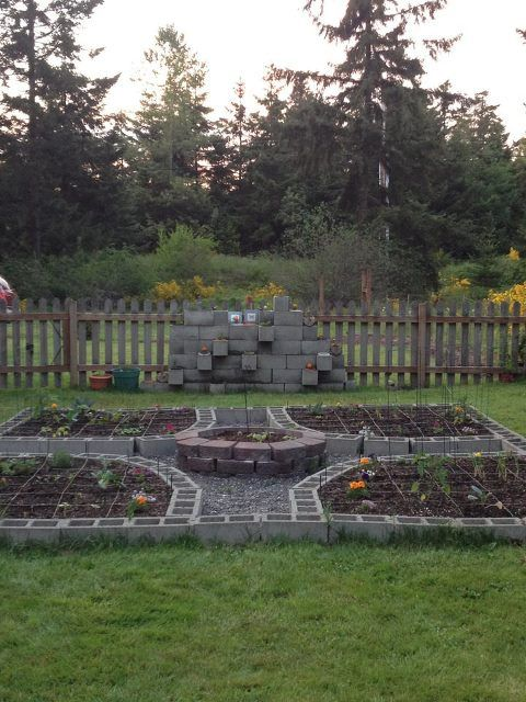 This is my amazing cinder block garden.