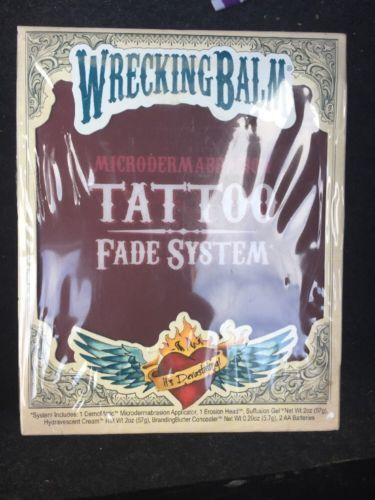 Tattoo Removal Machines: Remove Tattoos Cream Wrecking Balm Microdermabrasion Help Tattoo Fade System New BUY IT NOW ONLY: $35.0 #TattooRemoval