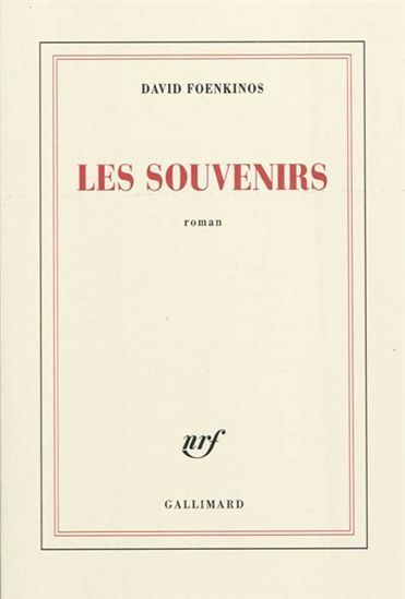 DAVID FOENKINOS - Les Souvenirs