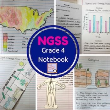 4th Grade NGSS Interactive Science Notebook Activities $