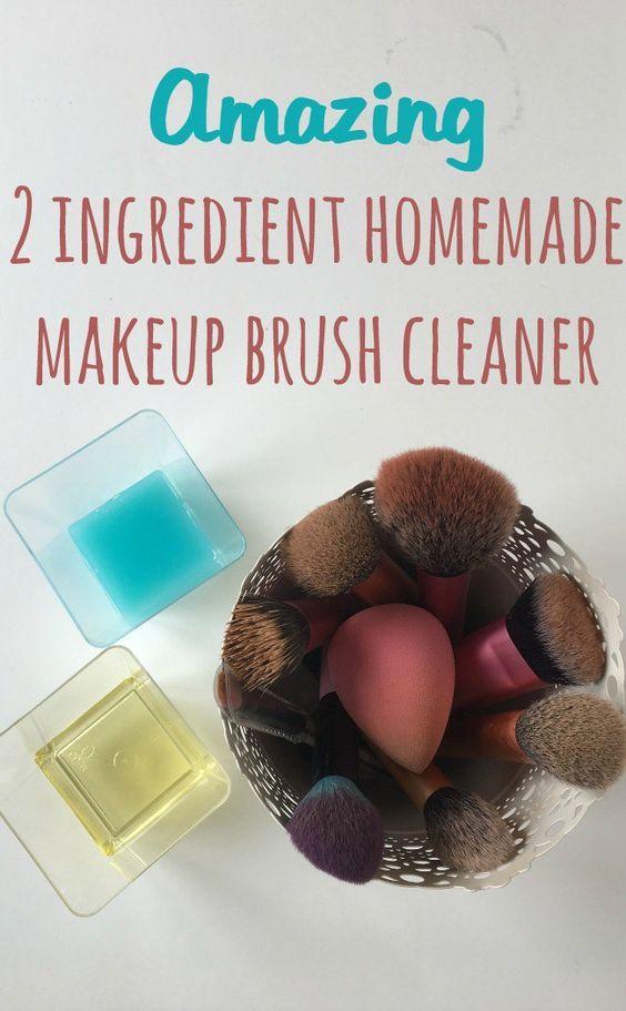 Amazing 2 ingredient homemade makeup brush cleaner