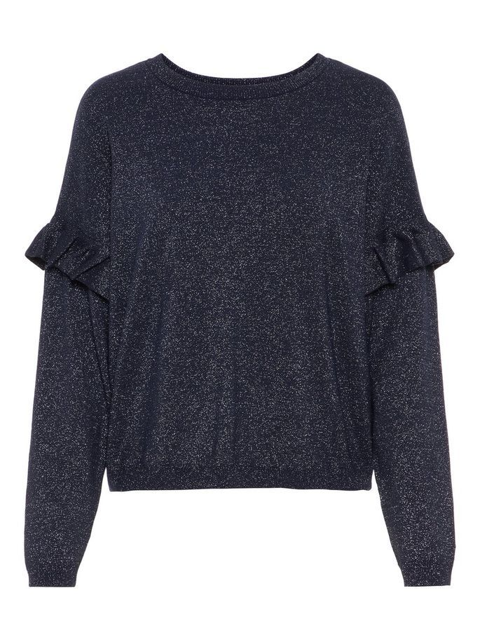 hot sale online 754af 7a0c4 Ruffled sleeved glitter knitted pullover | VERO MODA | Key ...