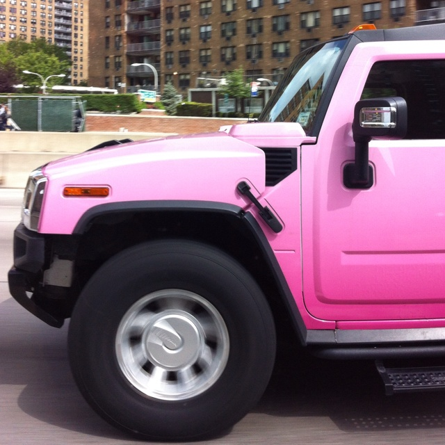 Pink Hummer Limo!!! Couldn't get the whole shot lol