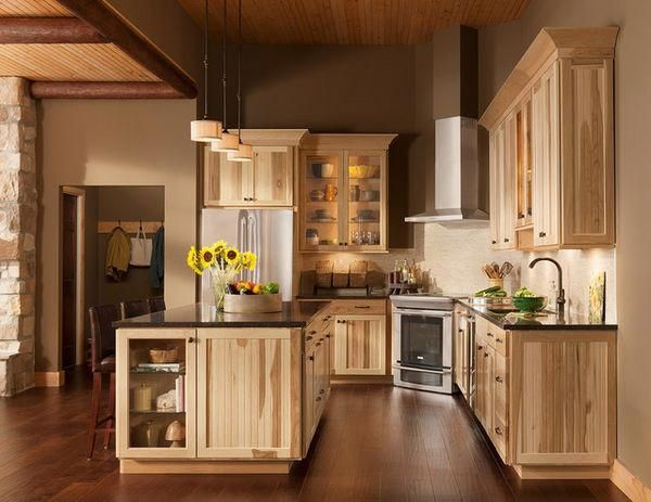 Rustic Kitchen Cabinets Rustic Country Style Farmhouse Or Unfinished Kitchen Style Is One Rustic Kitchen Cabinets Hickory Kitchen Hickory Kitchen Cabinets