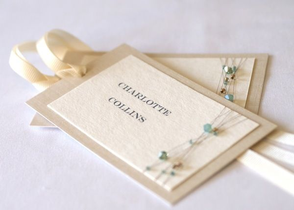 Originally a wedding place card - Inspiration for a birthday gift card