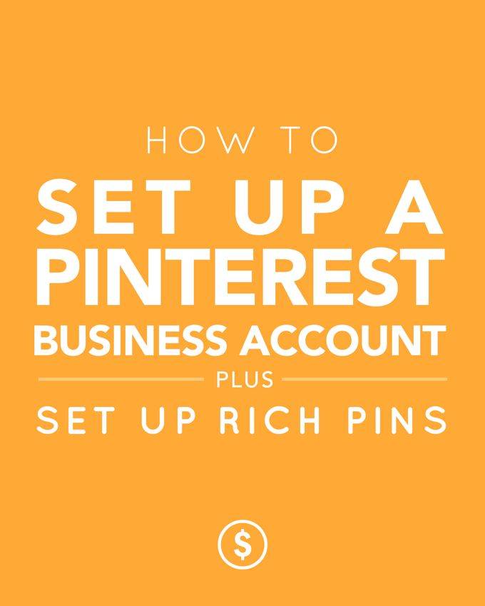 How to set up a Pinterest Business Account • Want to set up rich pins and a Pinterest business account? It's SUPER easy! Check out this tutorial, so you can start lookin' like a Pinterest pro • Claire Sempf