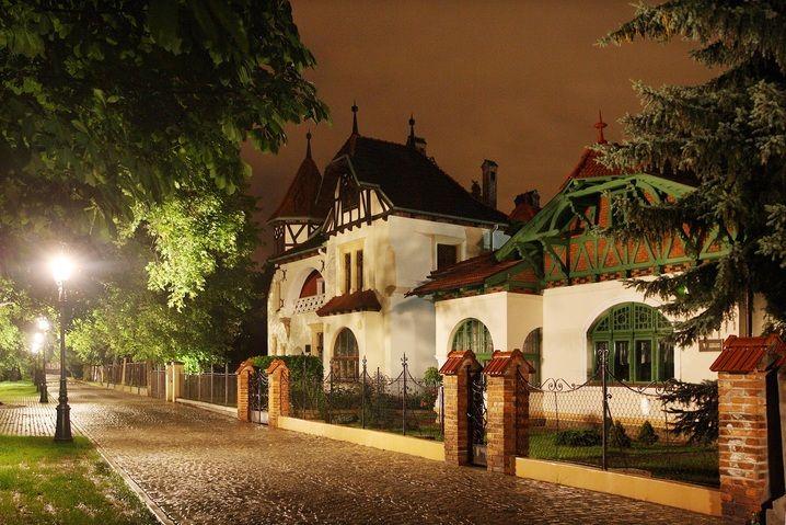 Wille secesyjne w Rzeszowie przy Alei Kasztanowej. Aleja Pod Kasztanami – mała uliczka-deptak zlokalizowana w Śródmieściu Rzeszowa. Wille (nr 8 i 9), powstały według projektu T. Tekielskiego w 1899 i 1900. Starsza, willa nr 8 stanowi nawiązanie do stylu szwajcarskiego budownictwa ludowego. Jej fundatorem był Włodzimierz Piliński. Młodsza, to tzw. willa Pod Sową, wzniesiona przez Tekielskiego, jako dom prywatny.