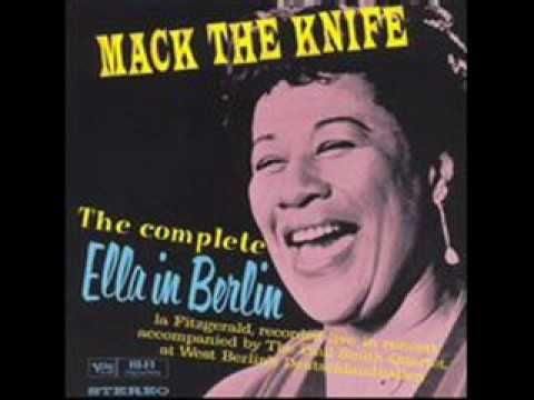 Mack The Knife- Mack The Knife - Ella In Berlin.wmv - YouTube - @Lin_Manuel  Apr 18 When Ella Fitzgerald forgets the lyrics & it's better than anything you've ever heard. I listen to this once a week.