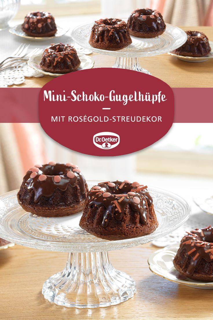 Mini Schoko Gugelhupfe Dr Oetker Deutschland Mit Bildern Schoko Kuchen Und Torten Mini Gugelhupf Rezept
