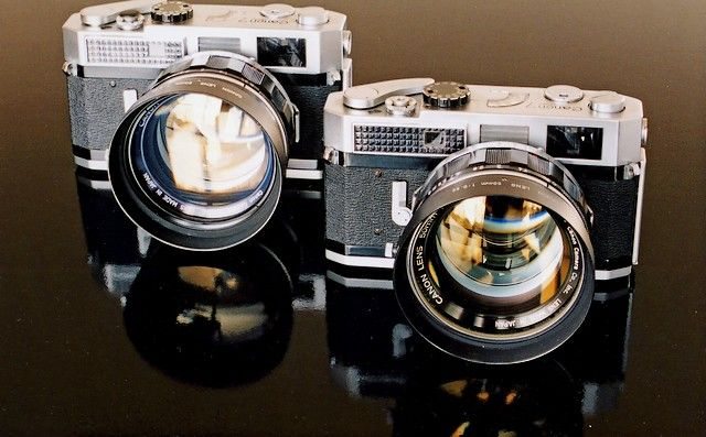 """""""The Canon 7 was a rangefinder system camera produced by Canon Inc., the last compatible with the Leica M39 lens mount. It was introduced in September 1961, with an integrated Selenium meter cell. Further versions, branded Canon 7s and Canon 7s Type II (or Canon 7sZ), modified the design slightly by introducing a cadmium sulfide cell."""""""