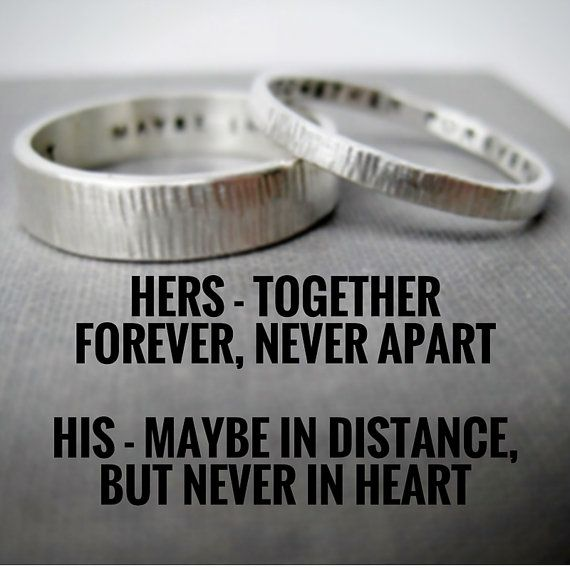 Hey, I found this really awesome Etsy listing at https://www.etsy.com/uk/listing/165678454/quote-idea-love-rings-his-n-hers-promise