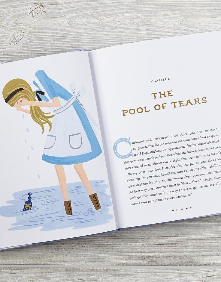 Alice's story comes to life through the eyes of Anna Bond, the artist known for her whimsical illustrations and sophisticated color palette.
