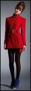Dorothy Perkins AW09 - Modern Red Women's Military Coat £ 95/€150