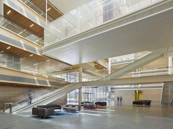 Novartis Building 337   Rafael Viñoly Architects   View of atrium. Photo: Bruce Damonte