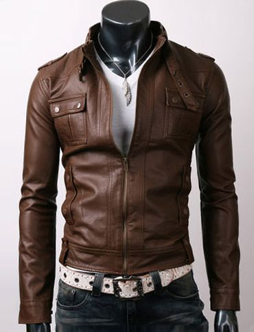 Cool Zip Leather Jacket for Men Fashion | Mens' Fashion ...